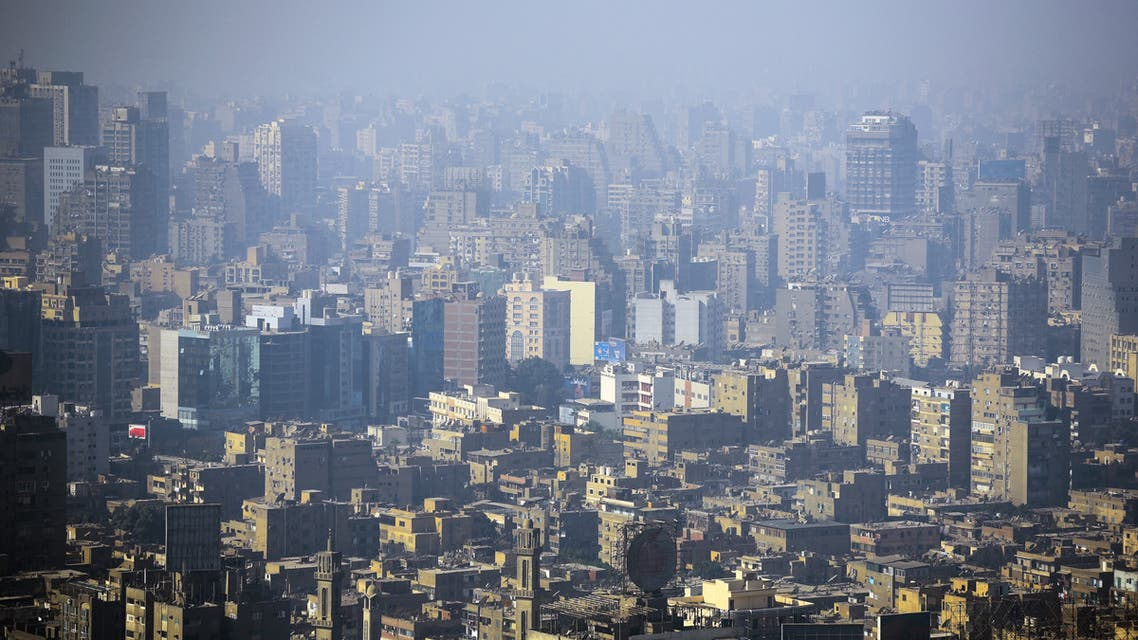 A picture taken on December 17, 2017 shows a view of the skyline of the Egyptian city of Giza, twin to the capital Cairo as seen from the Cairo Tower. (File photo: AFP)