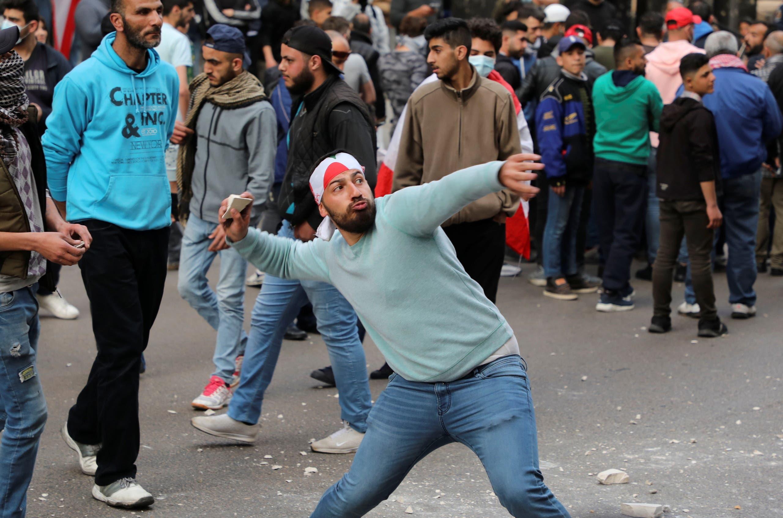 من تظاهرات في لبنان (أرشيفية- رويترز)