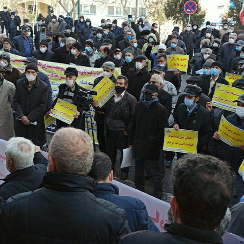 من طهران إلى مشهد فالأهواز.. صرخات المتقاعدين تتعالى