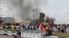 تظاهرات العراق تتجدد.. إغلاق طرق بالناصرية وإطلاق غاز بالنجف