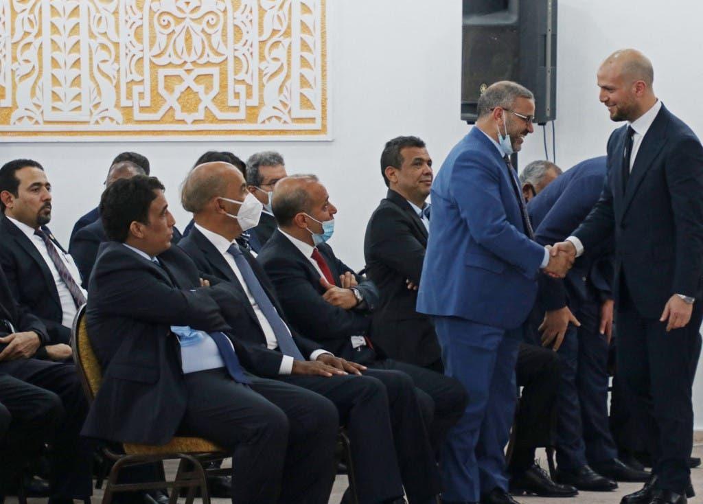خلال جلسة أداء اليمين الدستورية للحكومة الليبية - فرانس برس