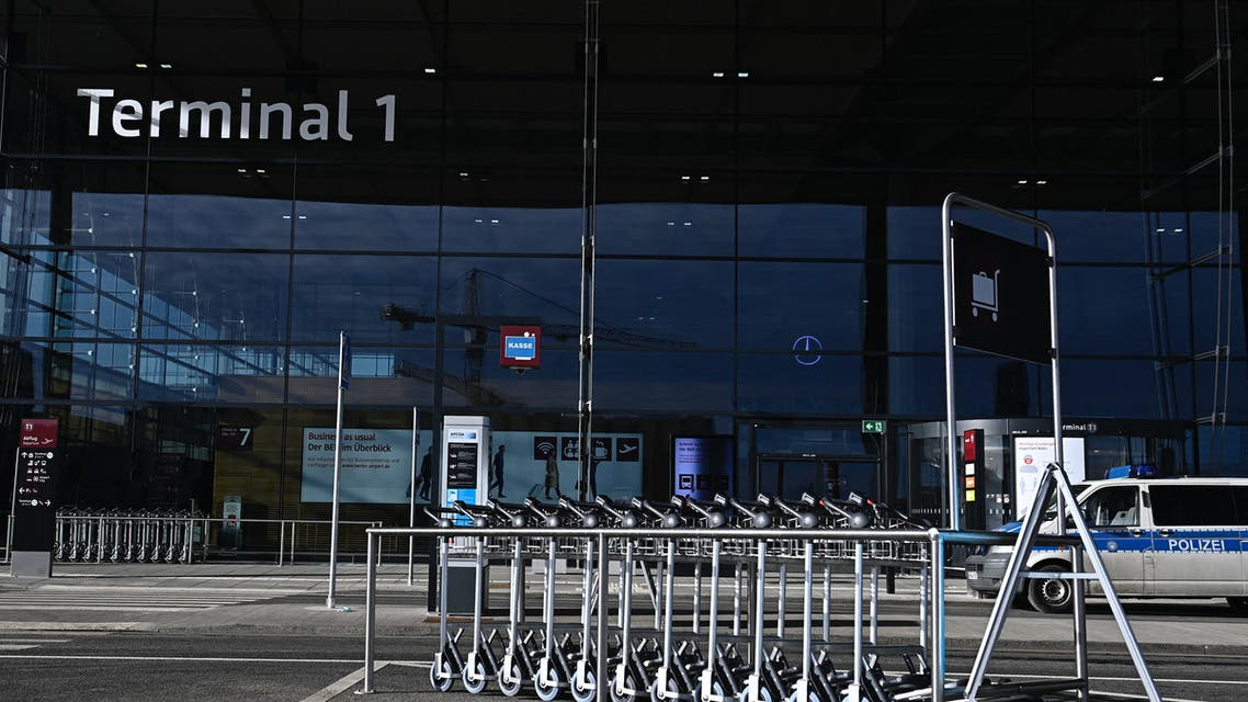 Terminal 1 is pictured at Berlin Brandenburg BER airport Willy-Brandt in Schoenefeld near Berlin on February 20, 2021. (File photo: AFP)