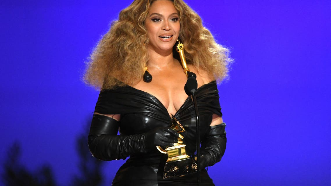 In this handout photo courtesy of The Recording Academy, US singer Beyoncé accepts the Best R&B Performance award for 'Black Parade' onstage during the 63rd Annual Grammy Awards at Los Angeles Convention Center on March 14, 2021 in Los Angeles, California. (File photo: AFP)