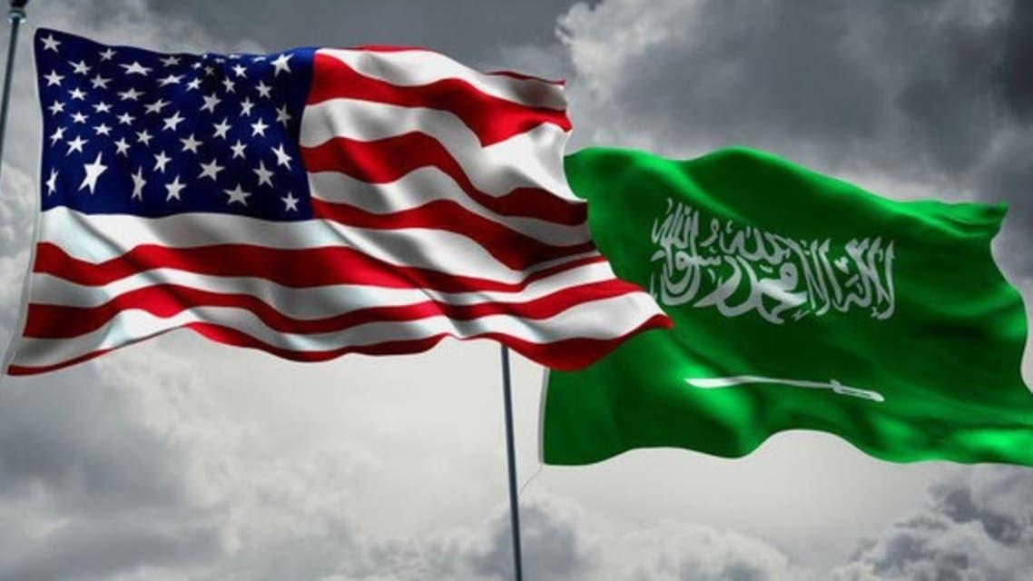 America and KSA flags