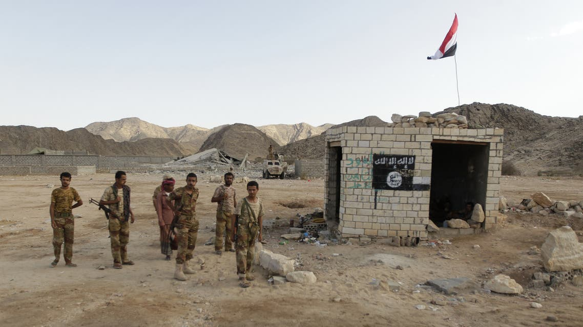 Yemeni soldiers stand at a post which was previously controlled by al-Qaeda insurgents. (File Photo: Reuters)