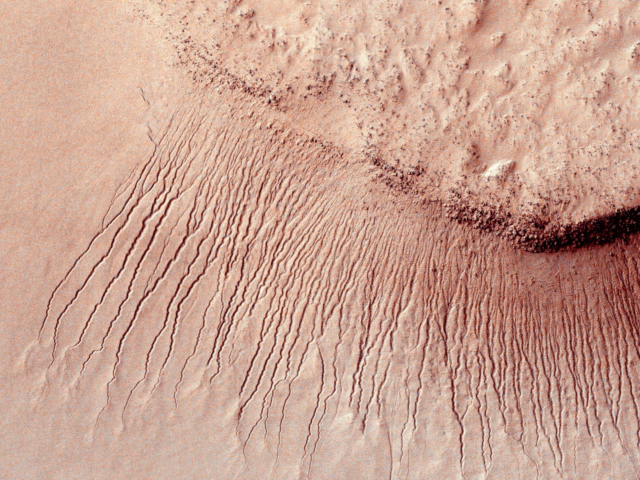 De la superficie de Marte