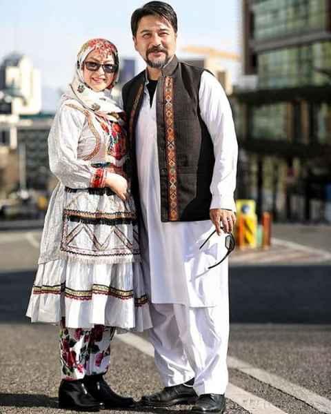 امیر حسین صدیق و همسرش باران خوش اندام