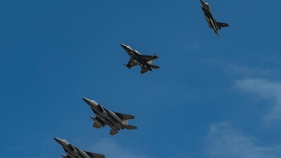 The Saudi and Greek air forces carried out sorties over the Mediterranean