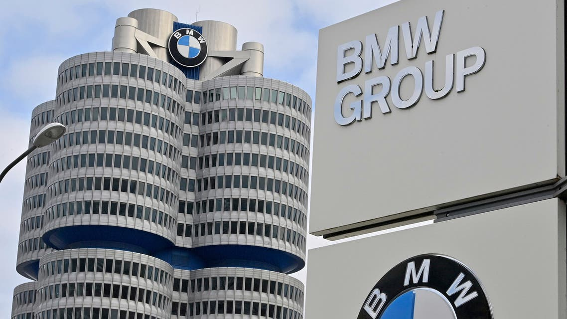 The BMW Group headquarters are pictured in Munich, Germany, Wednesday, March 16, 2021. German automaker BMW said Wednesday it intends to speed up the rollout of new electric cars, vowing to bring battery powered models to 50% of global sales by 2030. (AP)