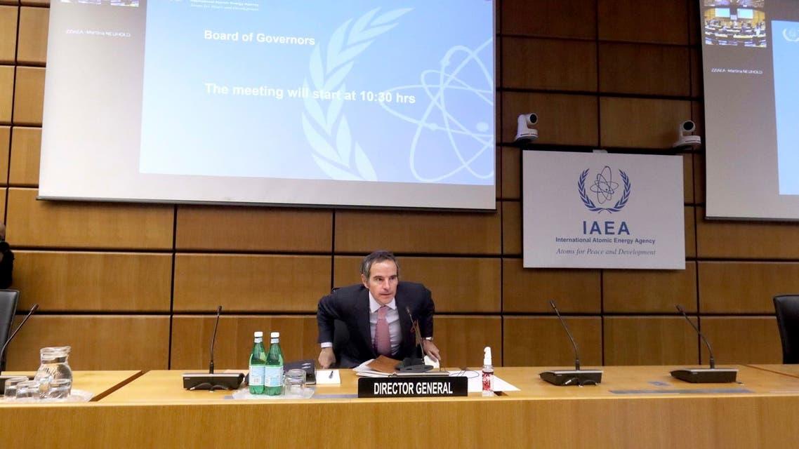 مدير عام لاوكالة الدولية للطاقة الذرية رافاييل غروسي - نووي إيران (أرشيفية- أسوشييتد برس)