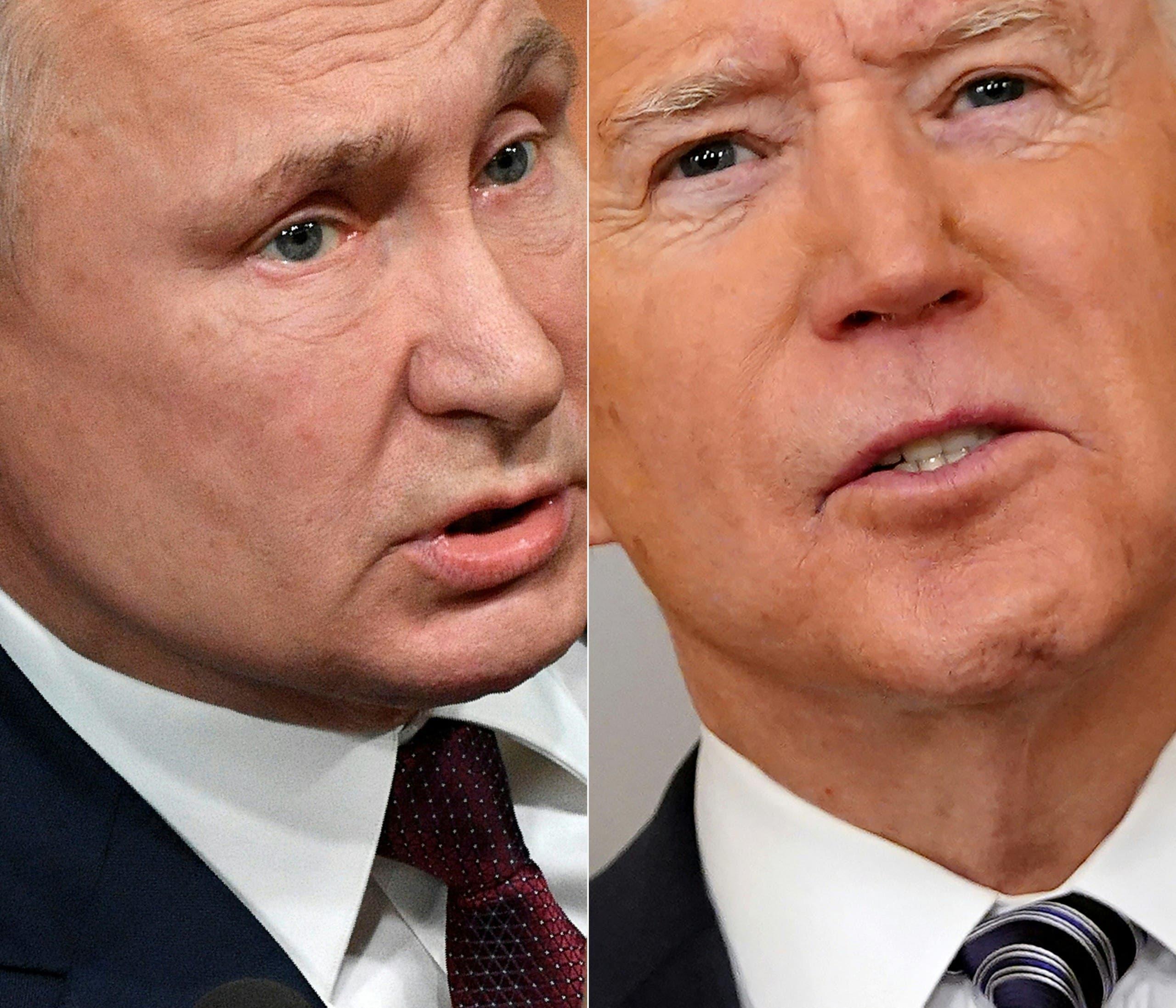 الرئيس الأميركي جو بايدن ونظيره الروسي فلاديمير بوتين (أرشيفية- فرانس برس)