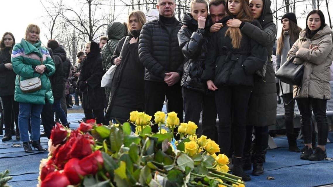 خانواده قربانیان هواپیمای سرنگون شده اکراینی
