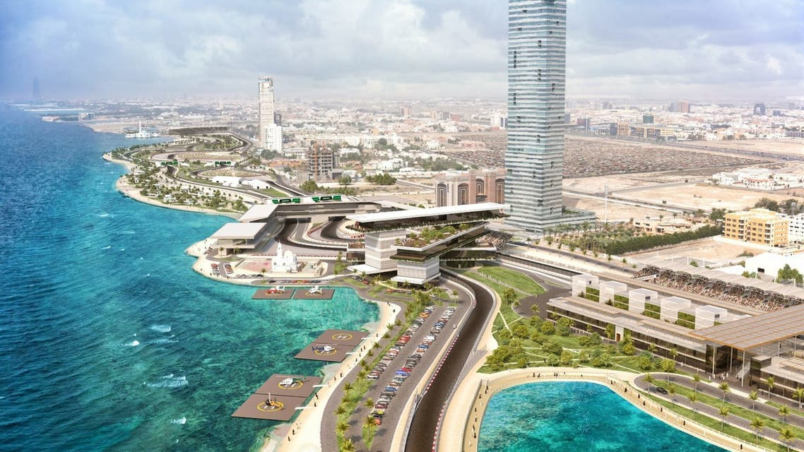 Computer generated image of the Jeddah circuit. (Formula1.com)