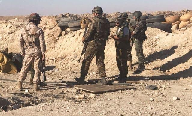 عناصر من ميليشيات إيران في سوريا