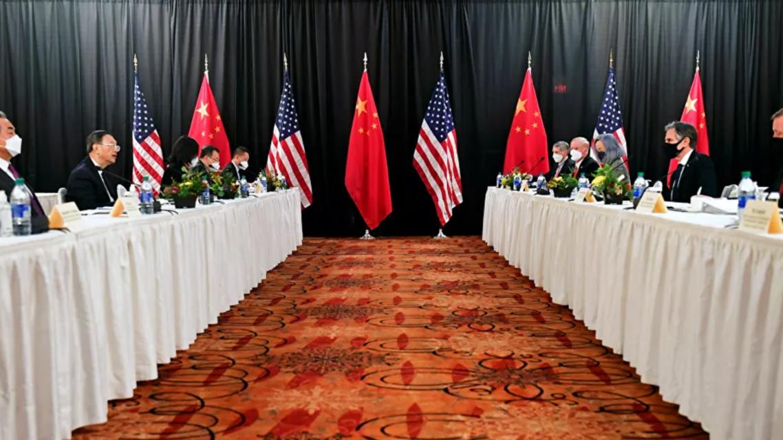 الوفد الصيني والأميركي