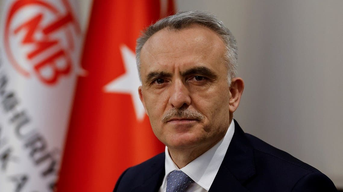Turkey's Central Bank Governor Naci Agbal poses during an interview with Reuters in his office in Istanbul, Turkey, February 4, 2021. (Reuters/Umit Bektas)