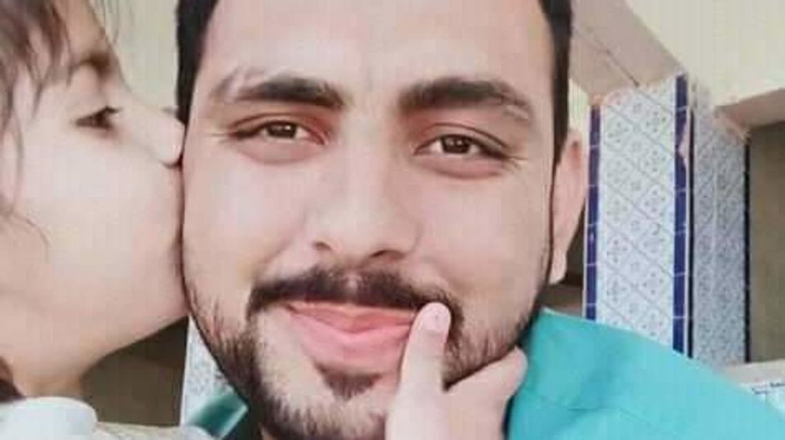 Pakistani journalist Ajay lalwani, who was a victim of a shooting that took place at Saleh Putt in Sukkur, Sindh-Pakistan, March 20, 2021. (Twitter)
