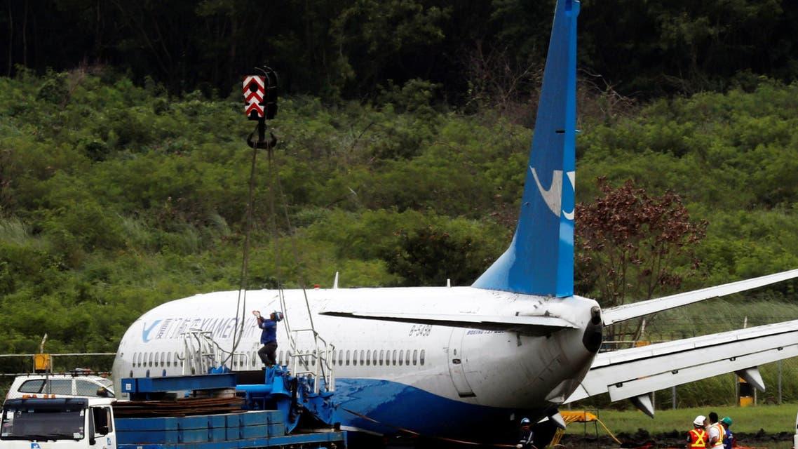 انزلاق طائرة بوينغ