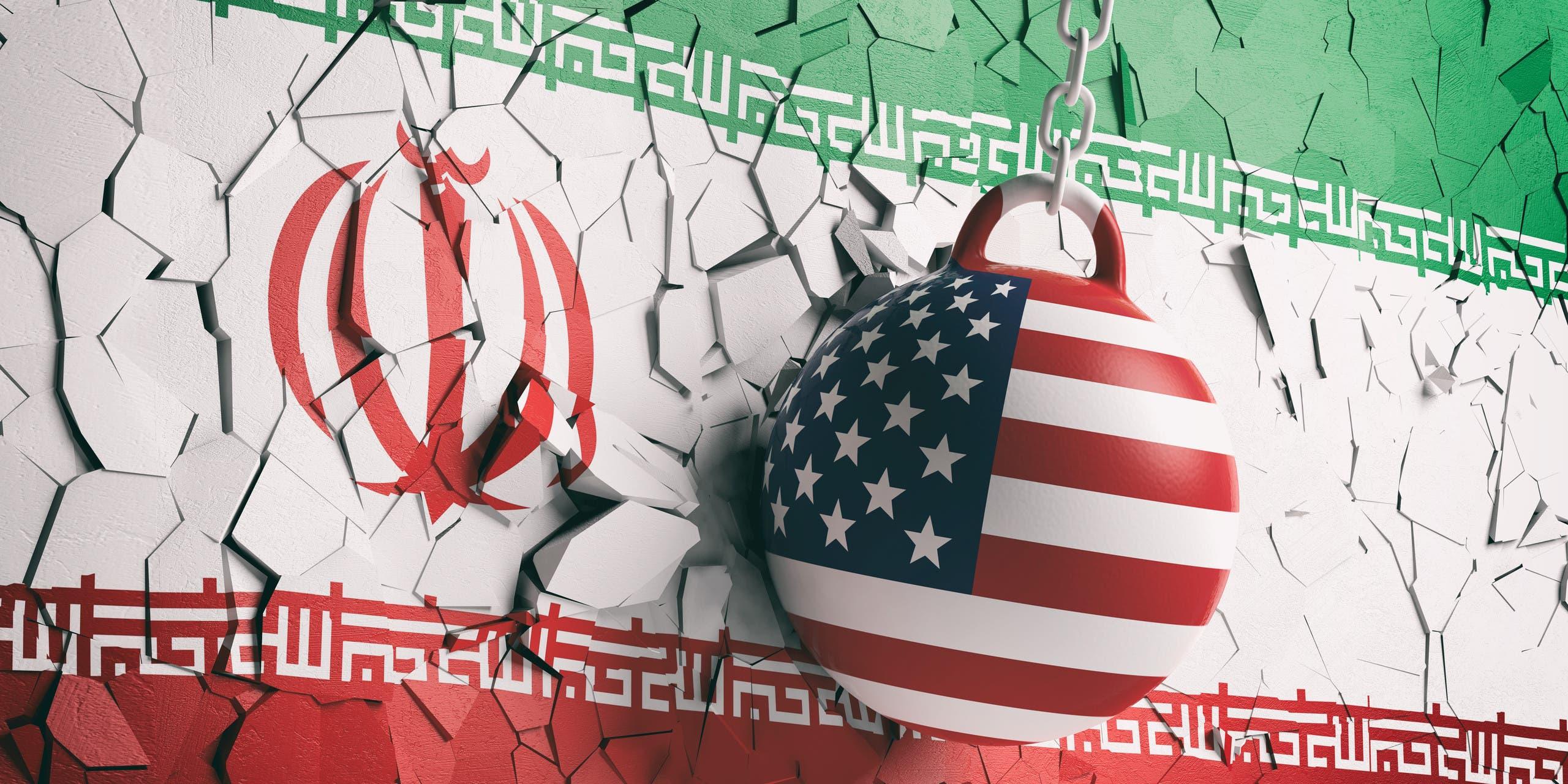 إيران وأميركا تعبيرية