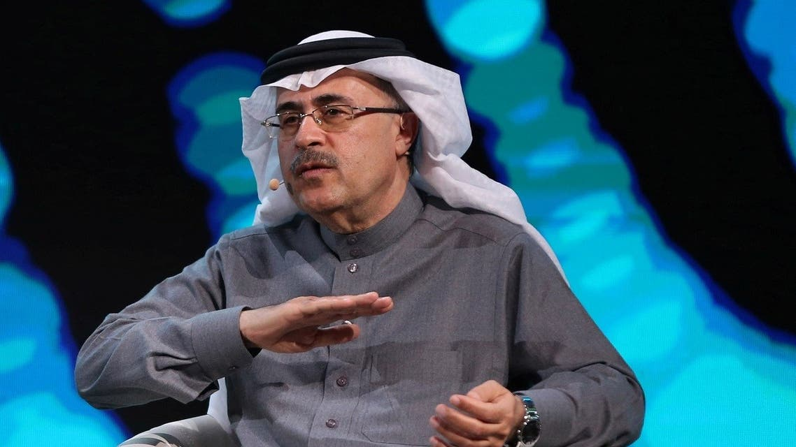 Aramco's President and CEO, Amin H. Nasser, speaks during the fourth annual Future Investment Initiative in Riyadh. (Reuters)