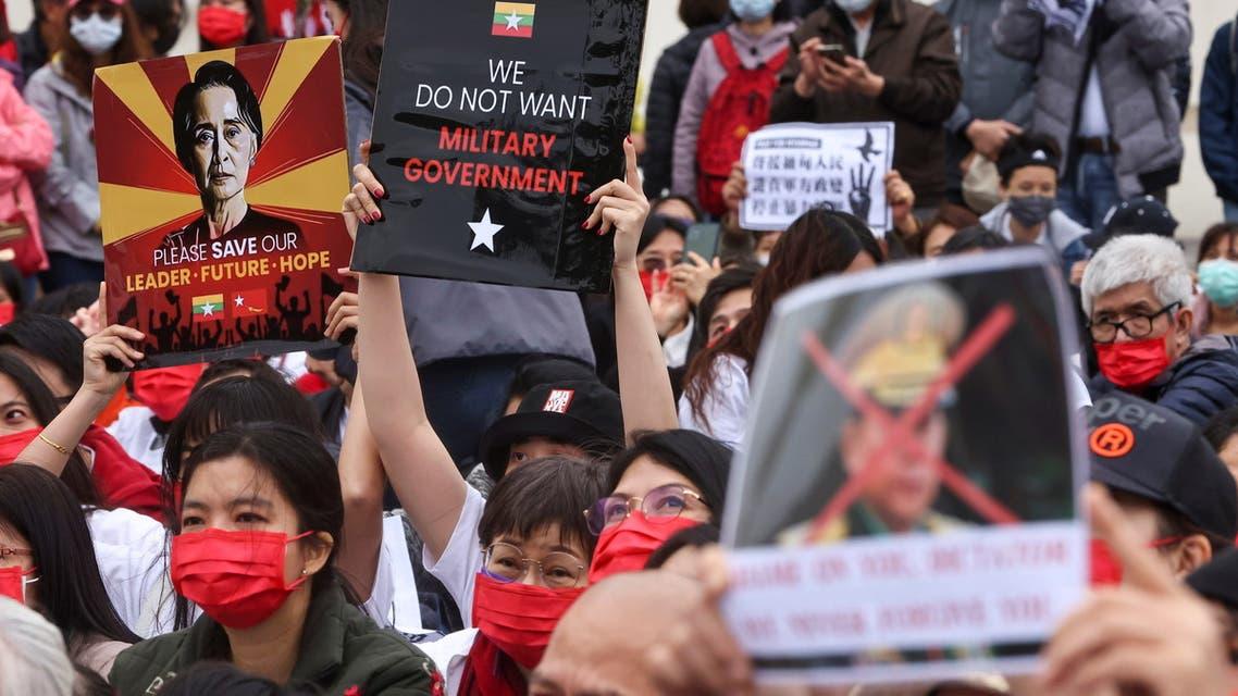 من احتجاجات 4 ميانمار