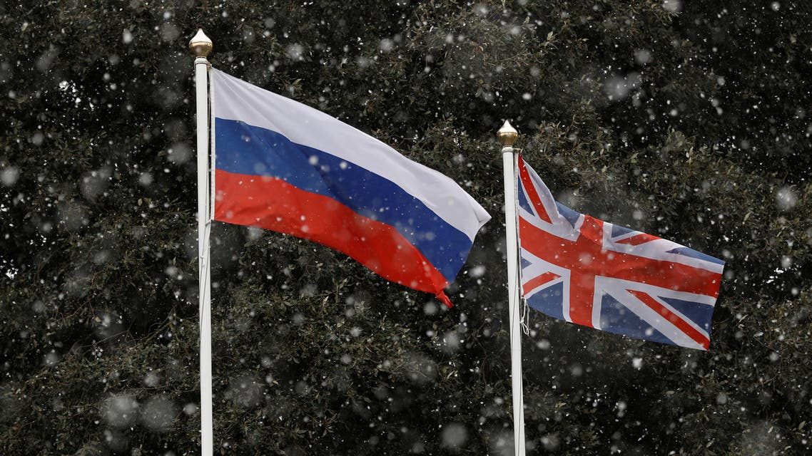 Flags of Russia and the United Kingdom. (File photo: Reuters)