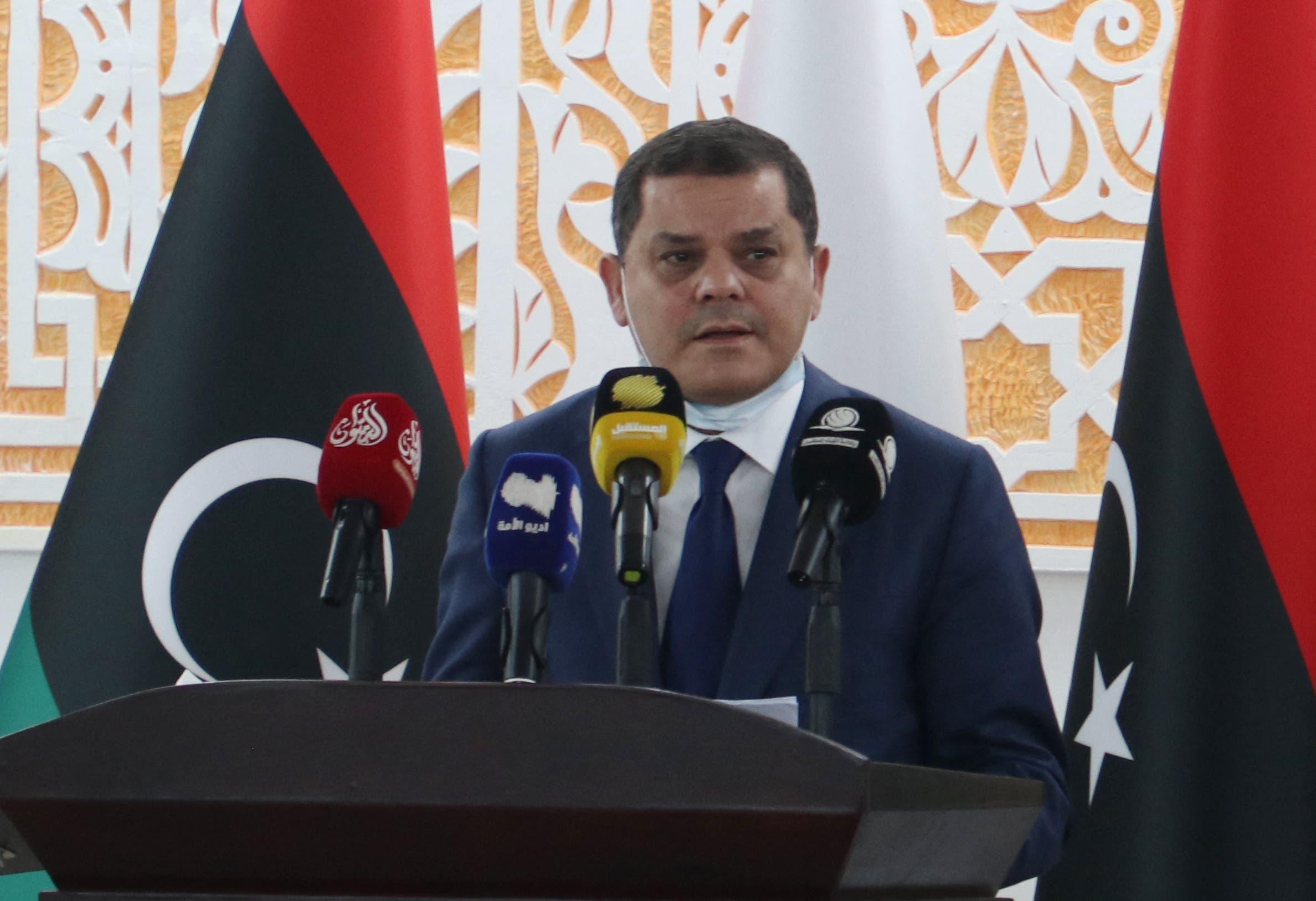 رئيس حكومة الوحدة الوطنية الجديدة عبد الحميد الدبيبة (أرشيفية)