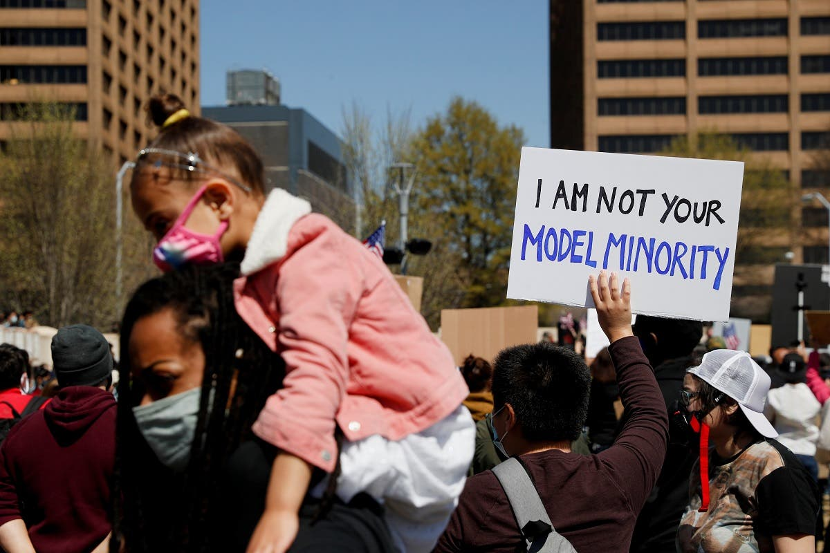 """The Stop Asian Hate"""" rally, following the deadly shootings, in Atlanta, Georgia, US, on March 20, 2021. (Reuters)"""