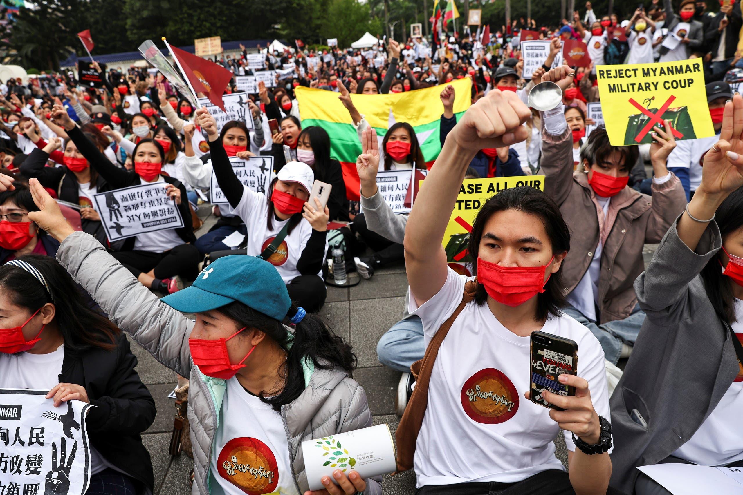 من احتجاجات ميانمار