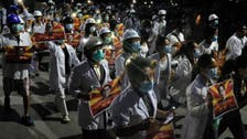Myanmar health workers rally in streets after deadly crackdown