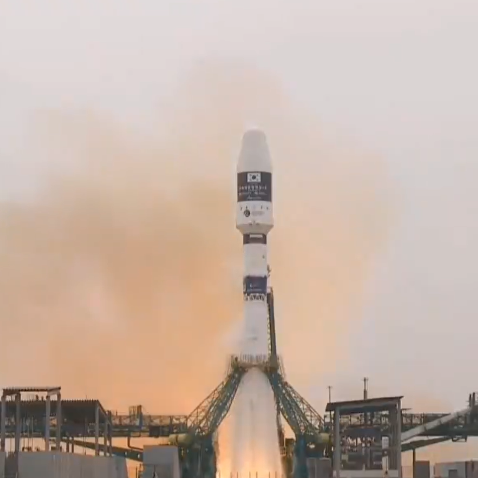 Russian Soyuz rocket launches into space with satellites from Saudi Arabia, UAE