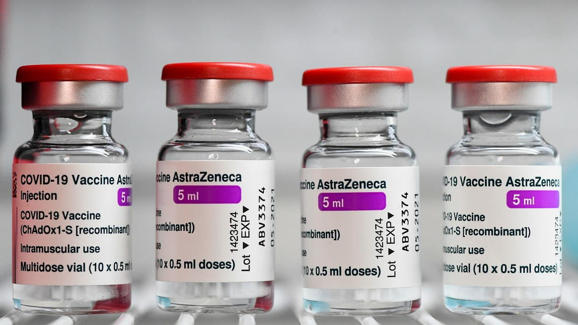 Vials of the AstraZeneca coronavirus disease (COVID-19) vaccine are seen, as AstraZeneca vaccinations resume after a brief pause in their use over concern for possible connection to blood clots, in Milan, Italy, March 19, 2021. (File photo: Reuters)