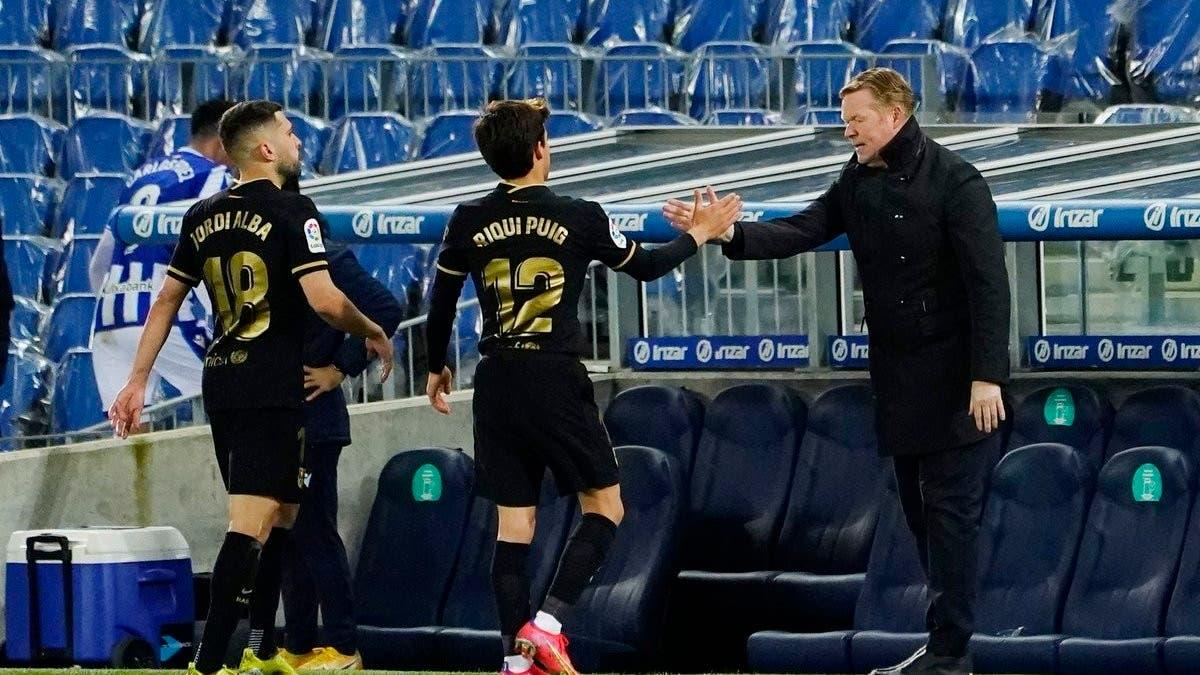 كومان يتوقع استمراره مع برشلونة