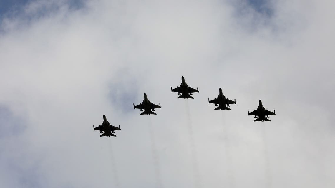 The Indigenous Defense Fighter (IDF) aircraft fly in formation during an inauguration ceremony of a maintenance centre for F-16 fighter jets, in Taichung, Taiwan August 28, 2020. (File photo: Reuters)
