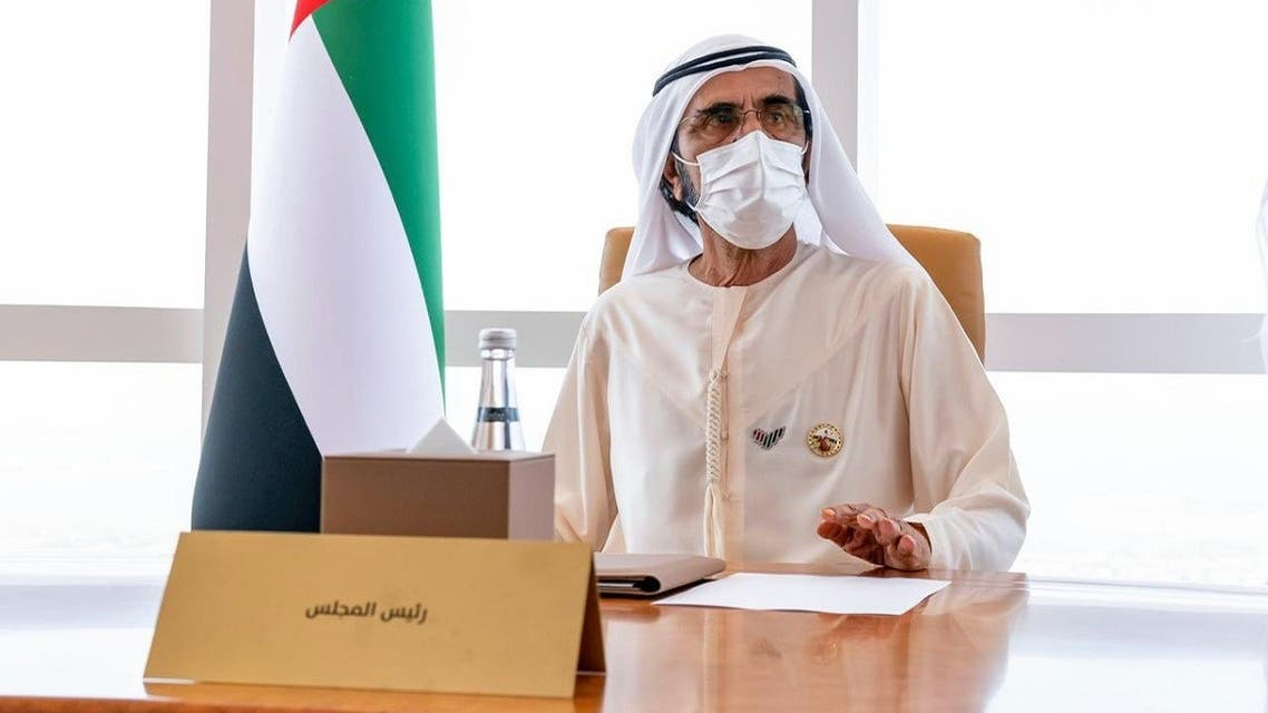 Dubai's ruler Sheikh Mohammed bin Rashid al-Maktoum during the cabinet meeting on Tuesday, March 23, 2021. (Twitter)