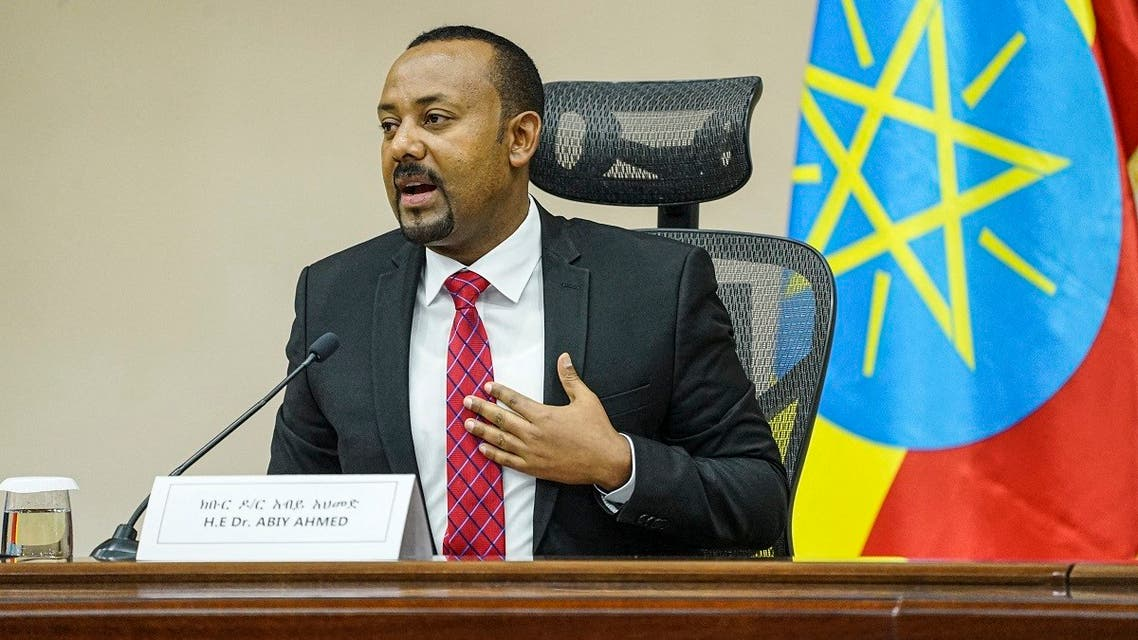 In this file photo taken on November 30, 2020 Ethiopian PM Abiy Ahmed speaks at the House of Peoples Representatives in Addis Ababa, Ethiopia. (Amanuel Sileshi/AFP)