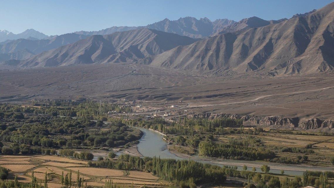 River Indus flows through Leh, in the Ladakh region, on September 14, 2020. (Reuters)