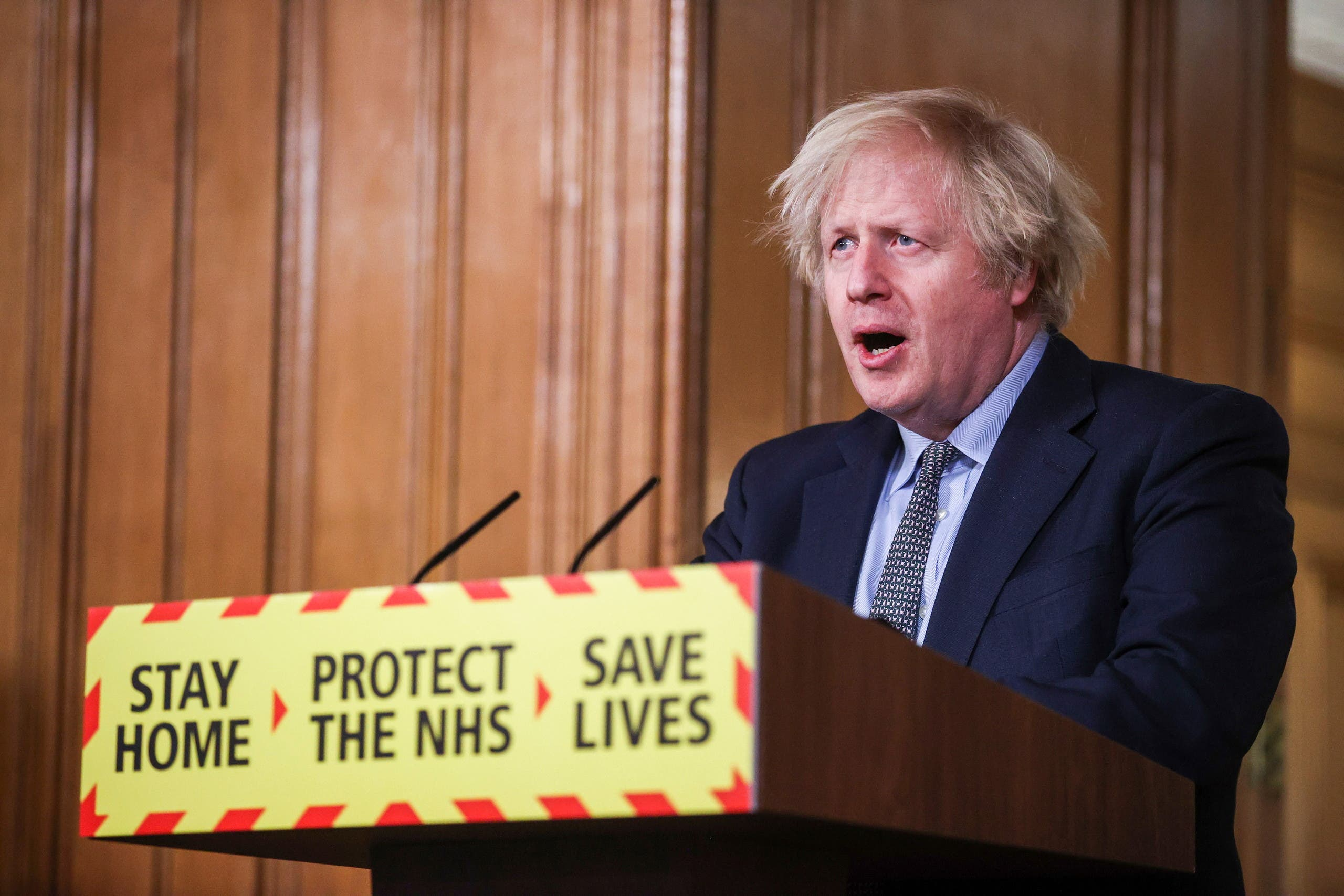 Britain's Prime Minister Boris Johnson holds a news conference at 10 Downing Street, on the day of reflection to mark the anniversary of Britain's first coronavirus disease (COVID-19) lockdown, in London, Britain March 23, 2021.(File photo: Reuters)