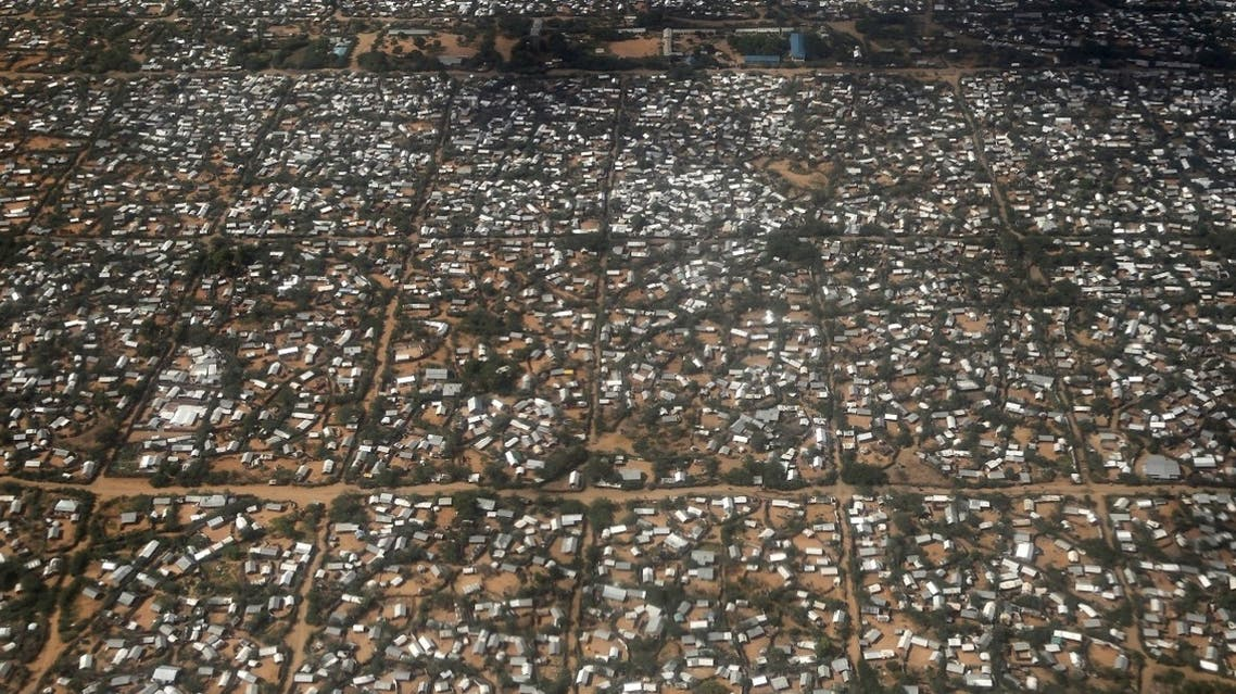 An aerial picture shows a section of the Hagadera camp in Dadaab near the Kenya-Somalia border. (Reuters)