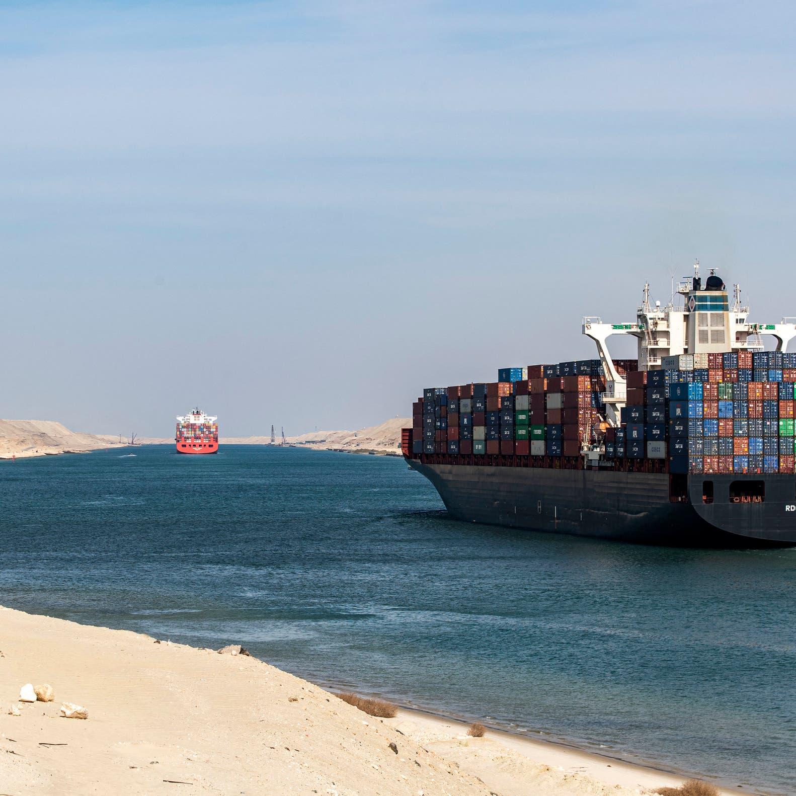 Massive container ship blocks Egypt's Suez Canal