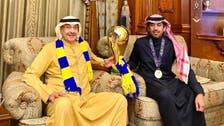 خالد بن فهد ينضم إلى أعضاء النصر الذهبيين