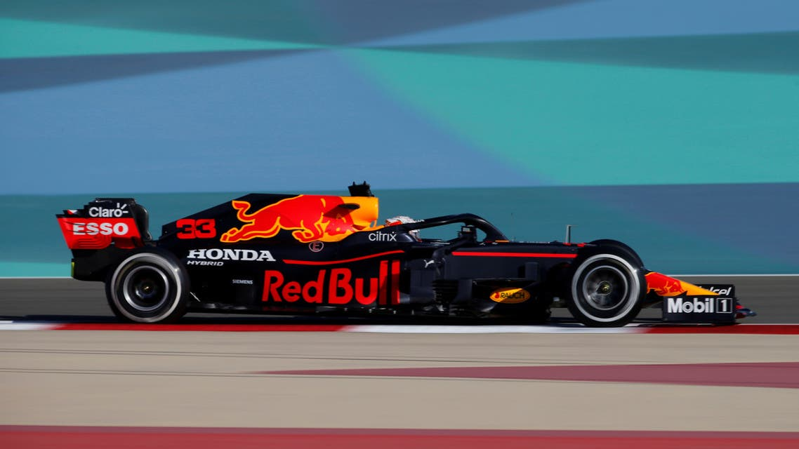 Red Bull's Max Verstappen in action during pre-season testing at the Bahrain International Circuit, Sakhir, Bahrain, on March 14, 2021. (Reuters)