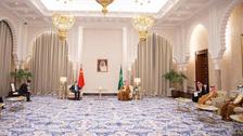 دیدار ولیعهد سعودی و وزیر امور خارجه چین در منطقه نیوم