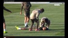 لاعب أتلتيكو مدريد يتعرض إلى حالة إغماء خلال التدريبات