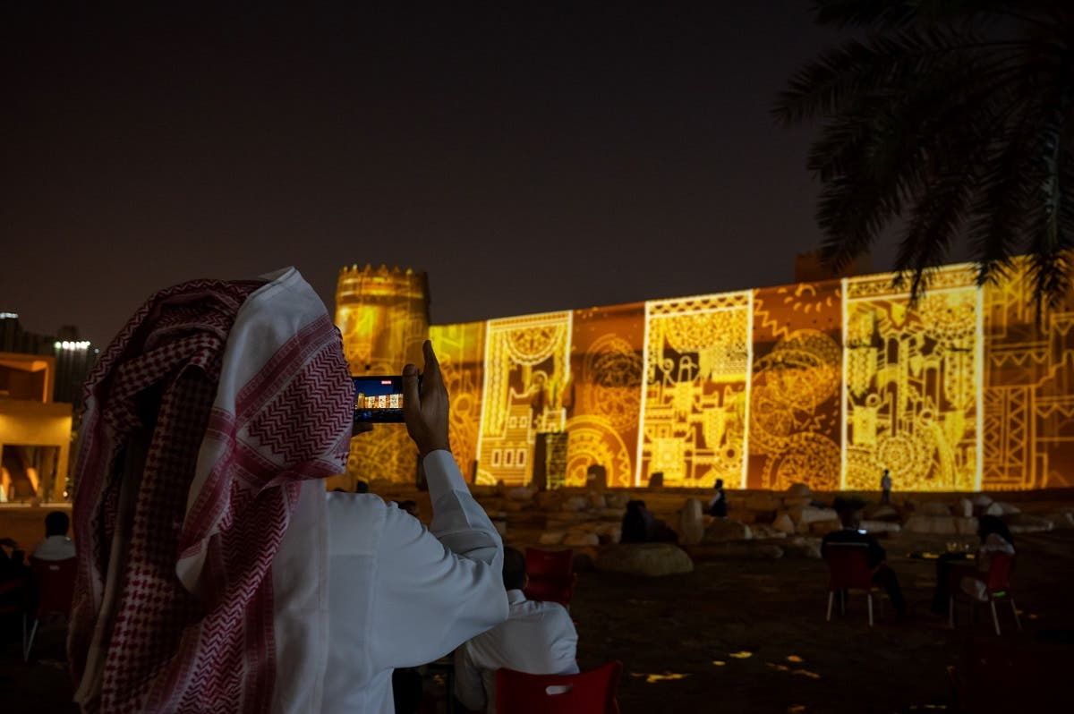 'Tribute to Ali Alruzaiza' at Masmak Fort. (Courtesy: Noor Riyadh)