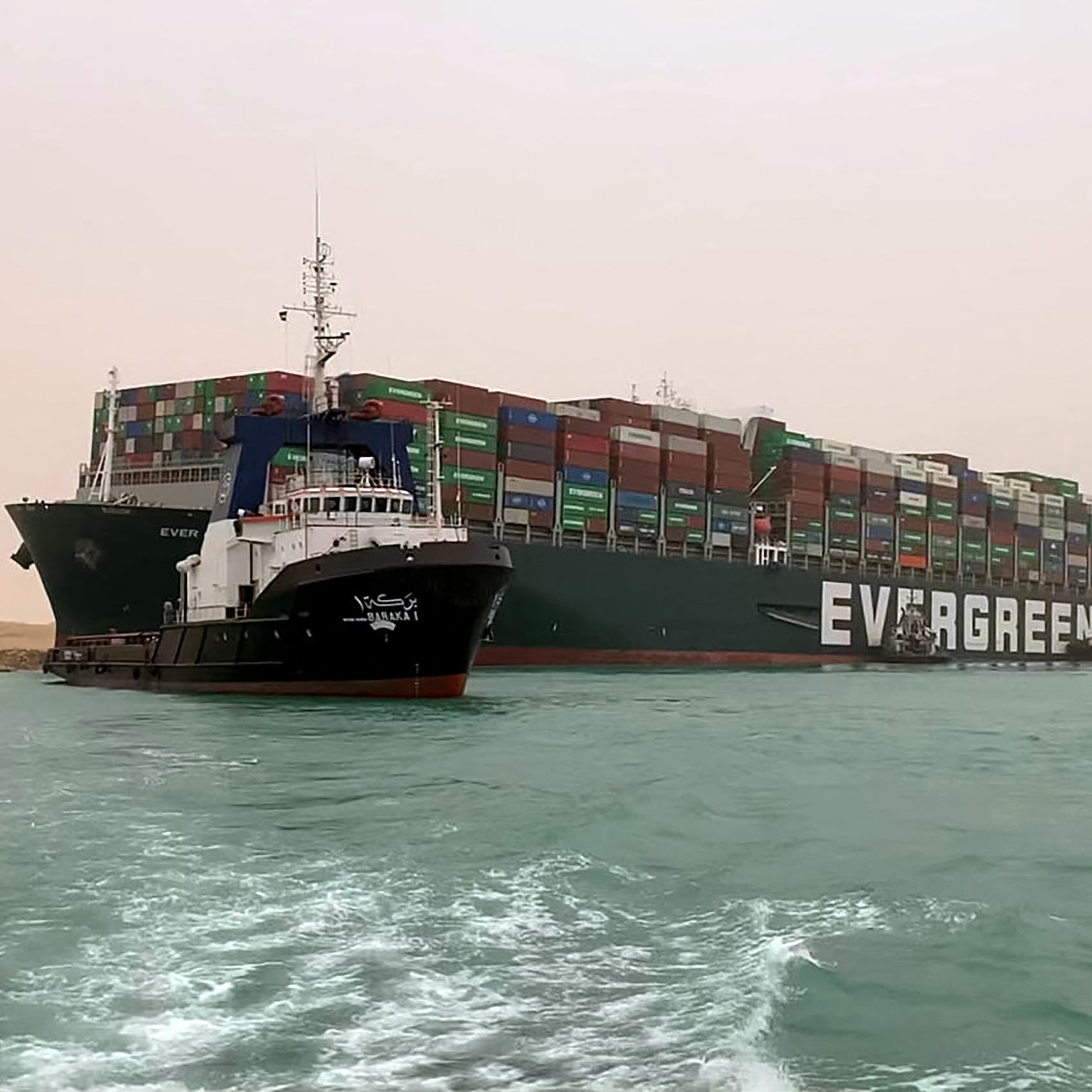 Giant ship stuck in Suez Canal inspires wave of memes, gifs on social media