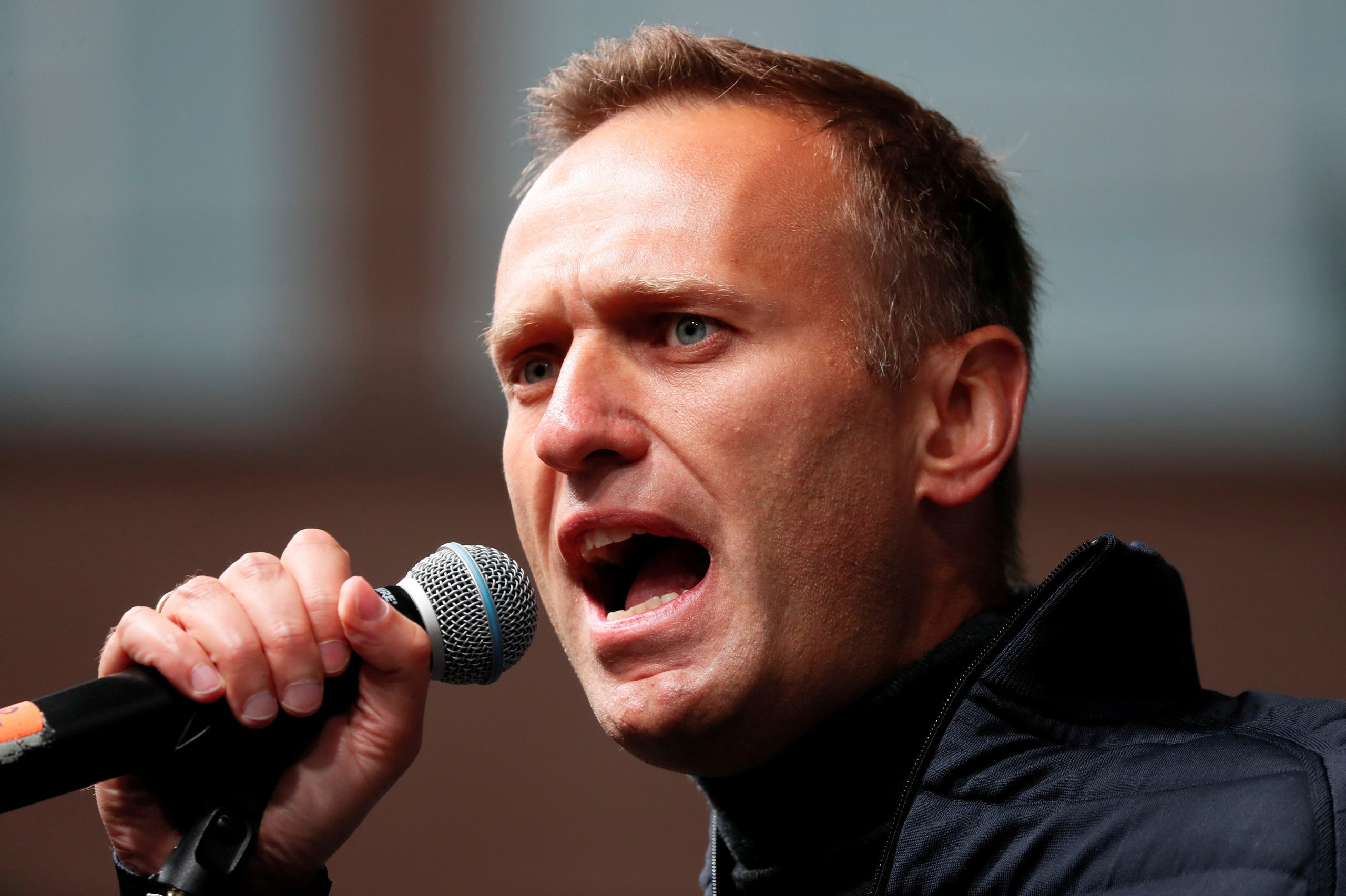 Russian opposition leader Alexei Navalny delivers a speech during a rally to demand the release of jailed protesters, who were detained during opposition demonstrations for fair elections, in Moscow, Russia September 29, 2019. (File photo: Reuters)