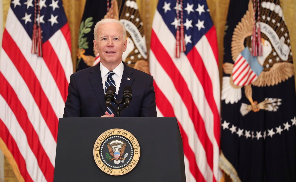 US President Joe Biden holds his first formal news conference as president at the White House, March 25, 2021. (Reuters)