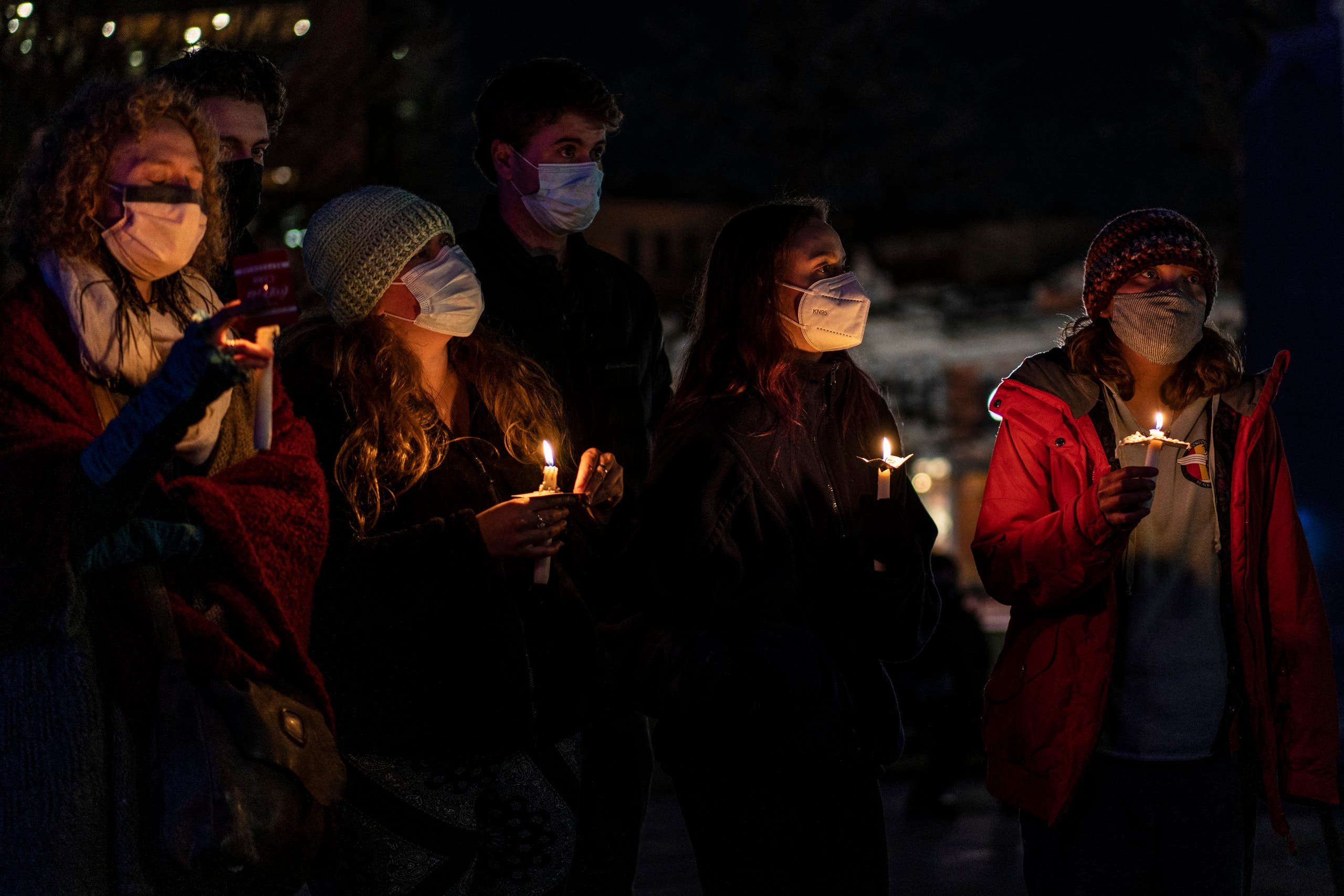 Mourners attend a vigil at the Boulder County Courthouse on March 24, 2021 in Boulder, Colorado. Ten people, including a police officer, were killed in a shooting at a King Sooper's grocery store on Monday. (File photo: AFP)