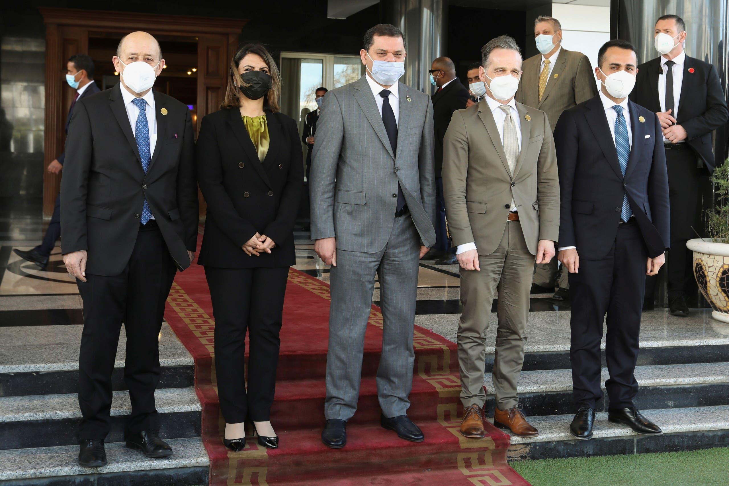 من زيارة وزراء خارجية فرنسا وألمانيا وإيطاليا إلى طرابلس في مارس الماضي